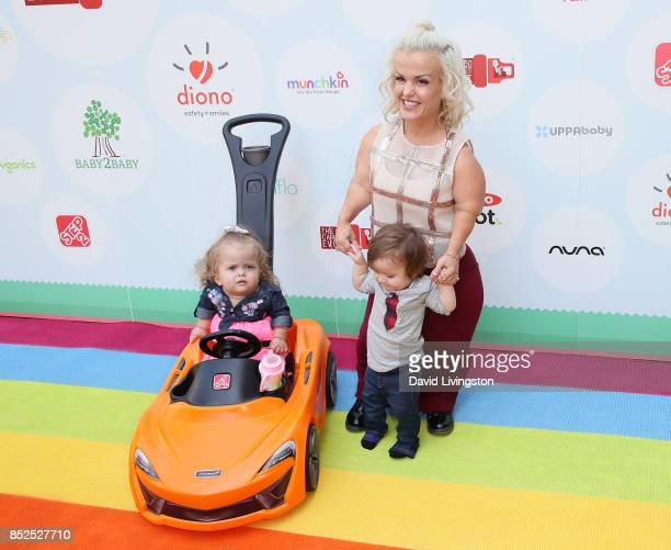 Television personality Terra Jole Penelope Gnoffo and Grayson Gnoffo attend the 6th Annual Celebrity Red CARpet Safety Awareness Event at Sony...