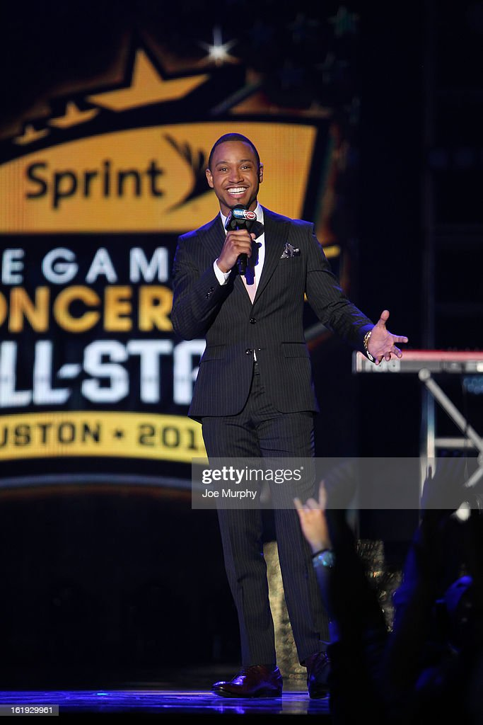 Television Personality Terrence Jenkins emcees the Sprint NBA All-Star Pregame Concert in Sprint Arena during the NBA All-Star Weekend on February 17, 2013 at the George R. Brown Convention Center in Houston, Texas.