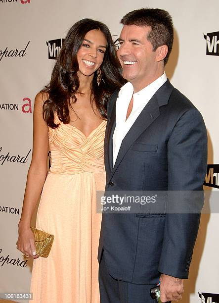 Television personality Terri Seymour and television personality Simon Cowell attend the 16th Annual Elton John AIDS Foundation Oscar Party at the...
