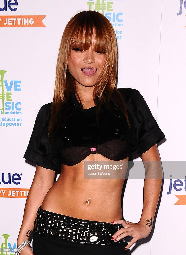 Television personality Tila Tequila attends the JetBlue and VH1 Save the Music Foundation CoasttoCoast launch party at My House on June 17 2009 in...