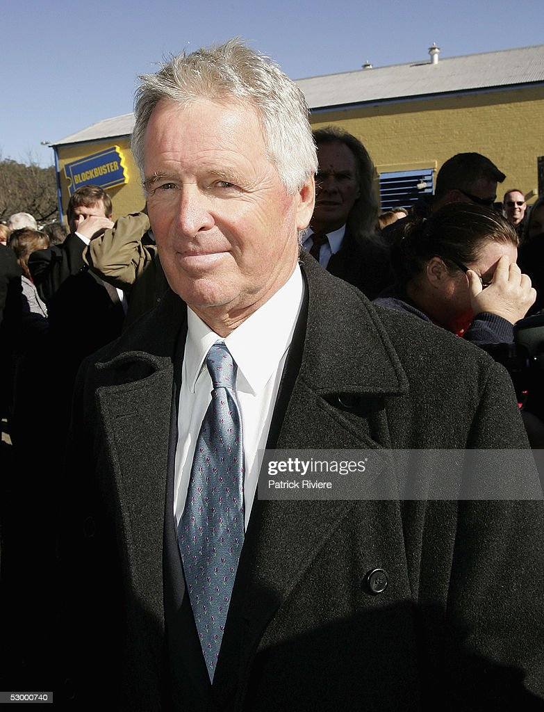 Television personality Tony Barber attends the funeral service of TV personality Graham Kennedy at the Playhouse on May 31 2005 in Mittagong New...