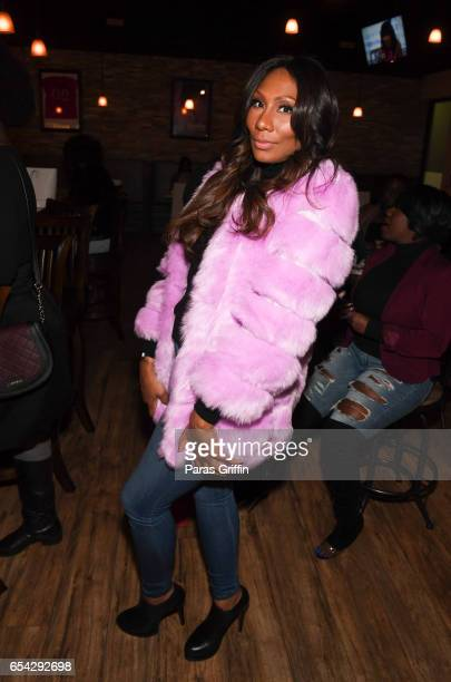 Television personality Towanda Braxton attends 'Braxton Family Values' Special Premiere Watch Party at Bar Chix on March 16 2017 in Duluth Georgia