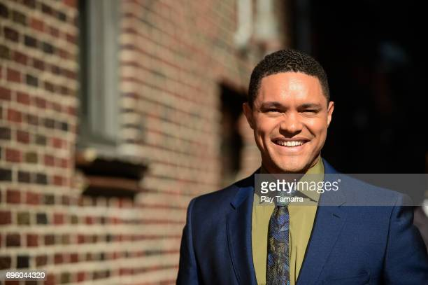 Television personality Trevor Noah enters the 'The Late Show With Stephen Colbert' taping at the Ed Sullivan Theater on June 14 2017 in New York City