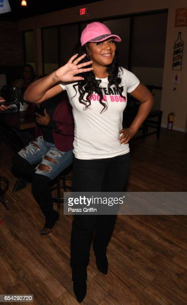 Television personality Trina Braxton attends 'Braxton Family Values' Special Premiere Watch Party at Bar Chix on March 16 2017 in Duluth Georgia