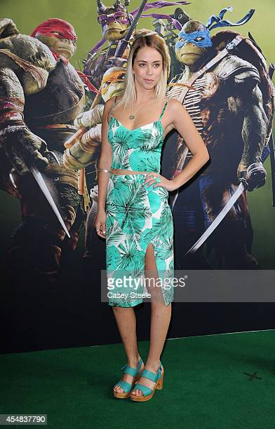 Television personality Tully Smyth arrives at the Sydney Premiere of 'Teenage Mutant Ninja Turtles' at The Entertainment Quarter on September 7 2014...