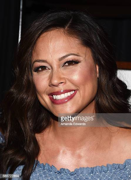 Television personality Vanessa Lachey attends JCPenney's Back to School community event with Vanessa Lachey at the Hollywood YMCA on August 3 2016 in...