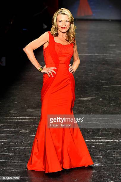 Television Personality Vanna White walks the runway at The American Heart Association's Go Red For Women Red Dress Collection 2016 Presented By...