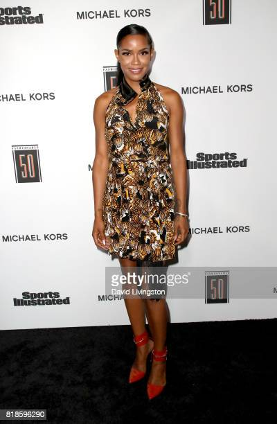 Television personality Veronika Obeng attends Sports Illustrated Fashionable 50 at Avenue on July 18 2017 in Los Angeles California