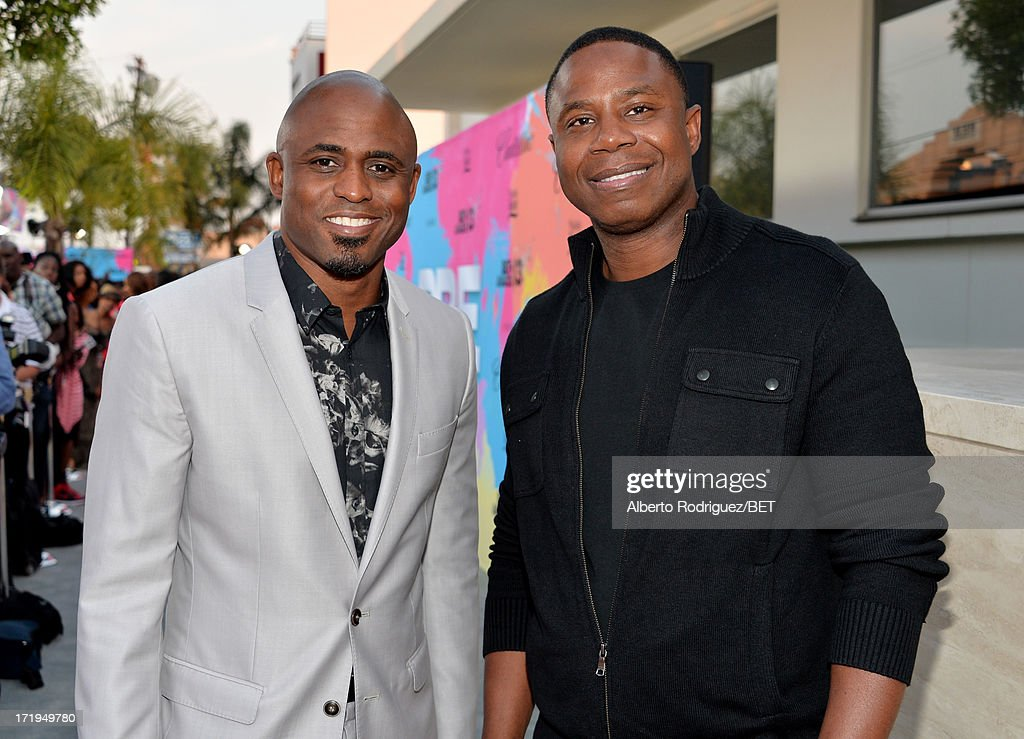 Television personality <a gi-track='captionPersonalityLinkClicked' href=/galleries/search?phrase=Wayne+Brady+-+Actor&family=editorial&specificpeople=217495 ng-click='$event.stopPropagation()'>Wayne Brady</a> (L) and rapper <a gi-track='captionPersonalityLinkClicked' href=/galleries/search?phrase=Doug+E.+Fresh&family=editorial&specificpeople=207004 ng-click='$event.stopPropagation()'>Doug E. Fresh</a> attend Debra Lee's Pre-BET Awards Celebration Dinner at Milk Studios on June 29, 2013 in Los Angeles, California.