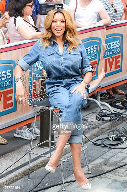 Television personality Wendy Williams enters the 'Access Hollywood' taping at the NBC Rockefeller Center Studio on June 11 2015 in New York City