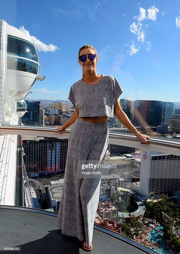 Television Personality and Fashion Designer Whitney Port Celebrates Her Bachelorette Party on The High Roller at The LINQ Promenade in Las Vegas