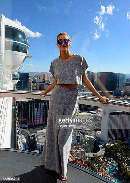 Television personality Whitney Port rides the High Roller during her bachelorette party at The High Roller at The LINQ Promenade by on August 7 2015...