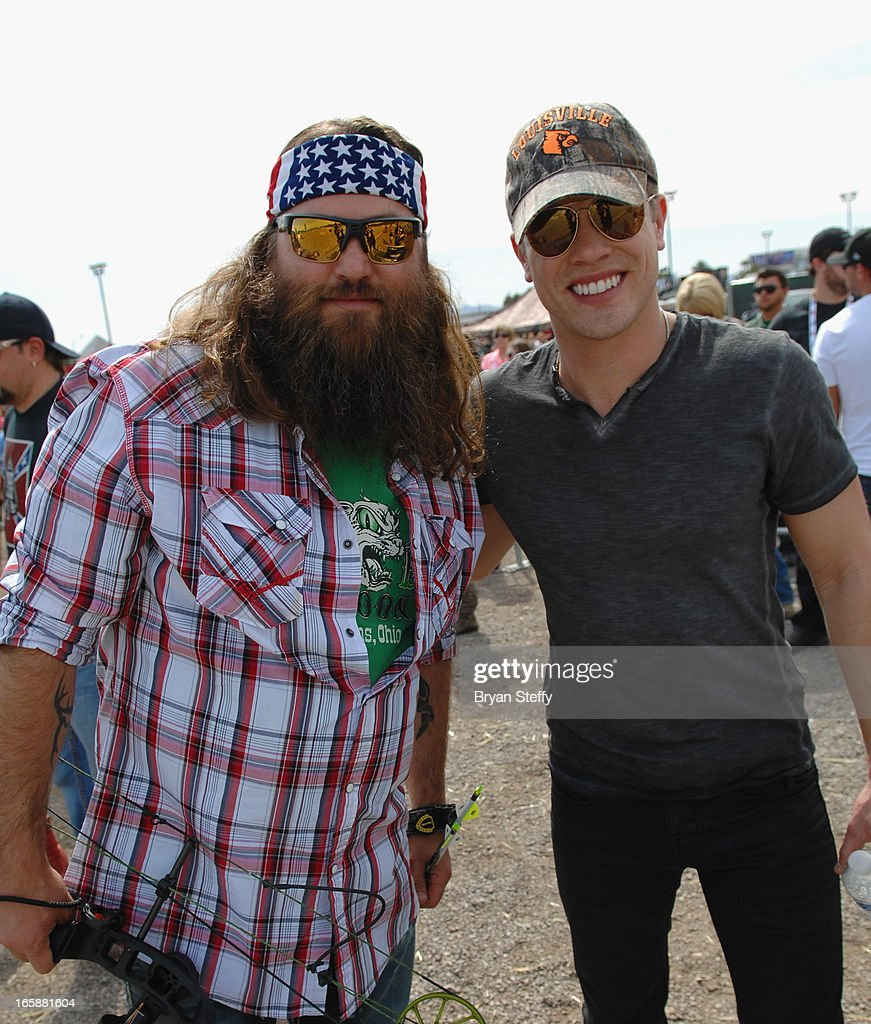Television personality Willie Robertson (L) and recording artist Dustin Lynch attend the 48th Annual Academy Of Country Music Awards & Cabela's Great Outdoors Archery event at the Orleans Arena on April 6, 2013 in Las Vegas, Nevada.