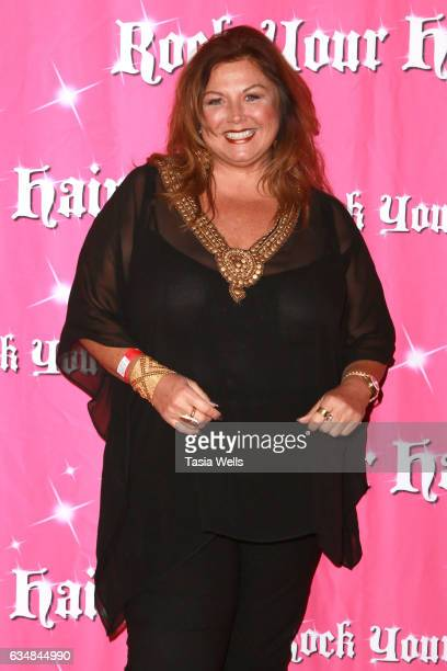 Television personality/'Dance Moms' host Abby Lee Miller attends Rock Your Hair presents 'Valentine's Rocks' at The Avalon Hotel on February 11 2017...