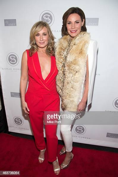 Television personality/Designer Sonja Morgan and LuAnn de Lesseps attend the Sonja Morgan New York Brands Launch Event at The Gabarron Foundation...