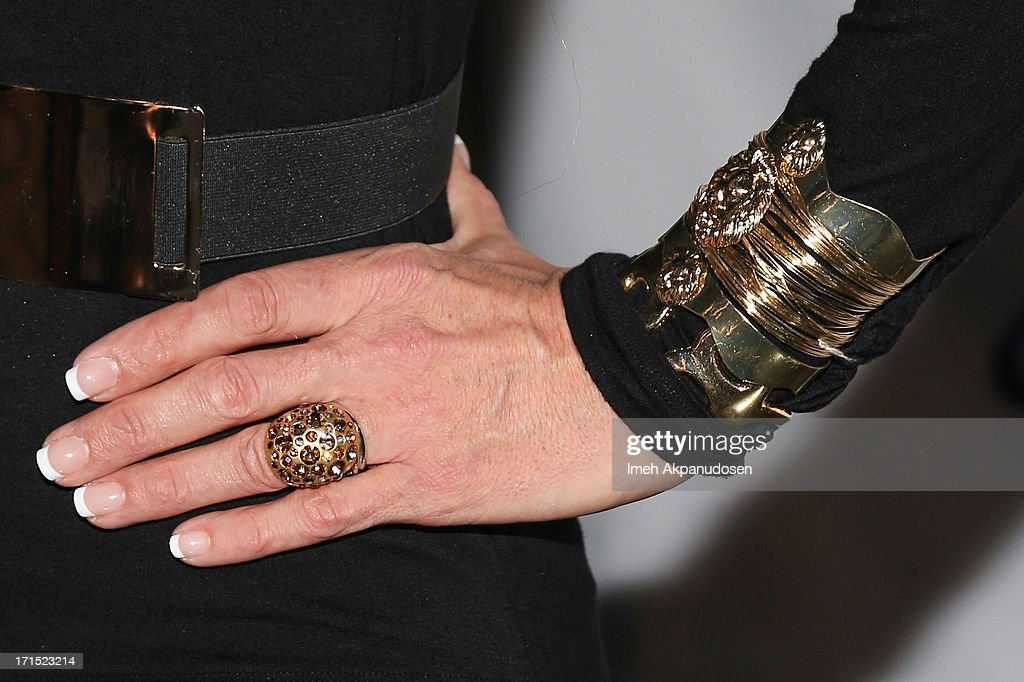 Television personality/drag queen Chad Michaels (ring and bracelet detail) attends Logo's 'Hot 100' Party at Drai's Lounge in W Hollywood on June 25, 2013 in Hollywood, California.