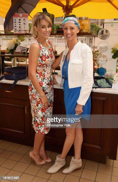 Television personality/fashion designer Lauren Conrad and CoFounder of BlueAvocado Paige Davis attend BlueAvocado's launch for XO collection designed...