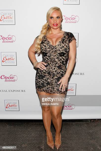 Television personality/model Coco Austin attends the Coco Licious launch party at The Raven on March 25 2014 in New York City