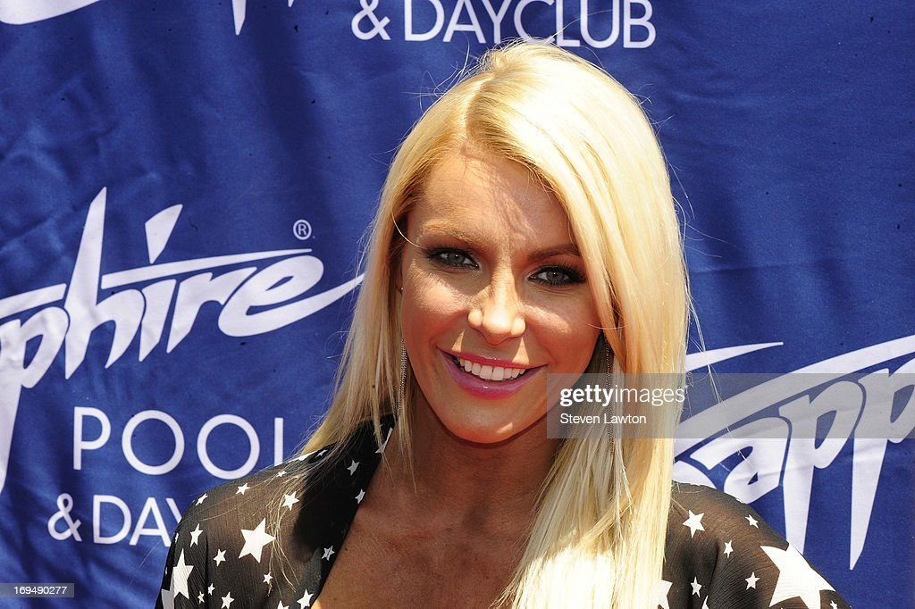Television personality/model Crystal Hefner arrives at the Sapphire Pool & Day Club during Memorial Day weekend on May 25, 2013 in Las Vegas, Nevada.