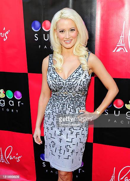 Television personality/model Holly Madison arrives for her book signing at the Sugar Factory American Brasserie at the Paris Las Vegas on June 11...