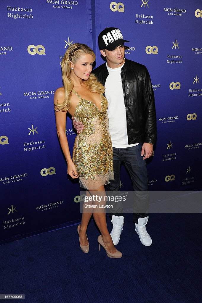 Television personality/model Paris Hilton (L) and River Viiperi arrive at the grand opening of Hakkasan Las Vegas Restaurant and Nightclub at the MGM Grand Hotel/Casino on April 27, 2013 in Las Vegas, Nevada.
