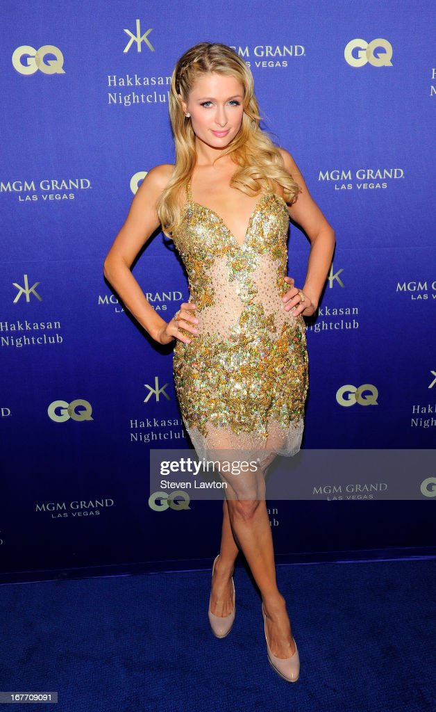 Television personality/model <a gi-track='captionPersonalityLinkClicked' href=/galleries/search?phrase=Paris+Hilton&family=editorial&specificpeople=171761 ng-click='$event.stopPropagation()'>Paris Hilton</a> arrives at the grand opening of Hakkasan Las Vegas Restaurant and Nightclub at the MGM Grand Hotel/Casino on April 27, 2013 in Las Vegas, Nevada.