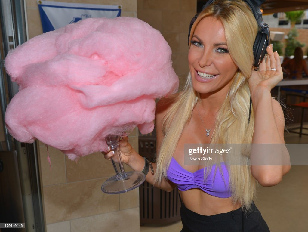 Television personality/model/DJ Crystal Hefner appears at the Sapphire Pool & Dayclub to host Labor Day weekend on August 31, 2013 in Las Vegas, Nevada.