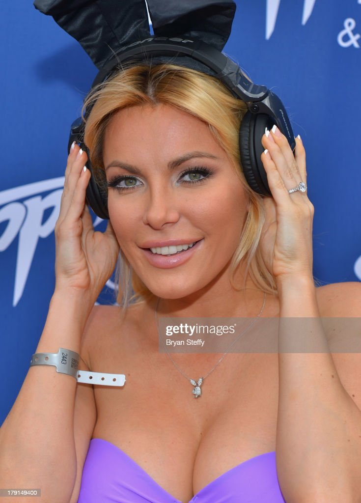 Television personality/model/DJ Crystal Hefner arrives at the Sapphire Pool & Dayclub to host Labor Day weekend on August 31, 2013 in Las Vegas, Nevada.