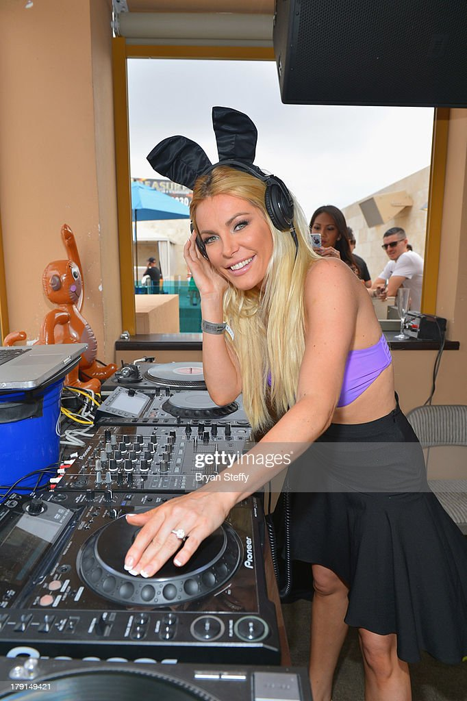Television personality/model/DJ Crystal Hefner performs at the Sapphire Pool & Dayclub as she hosts Labor Day weekend on August 31, 2013 in Las Vegas, Nevada.