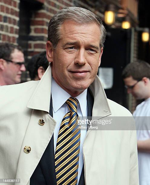 Television personalty Brian Williams arrives to 'Late Show with David Letterman' at Ed Sullivan Theater on May 15 2012 in New York City