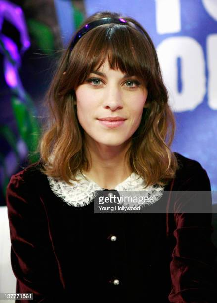 Television presenter Alexa Chung at the Young Hollywood Studio on January 25 2012 in Los Angeles California