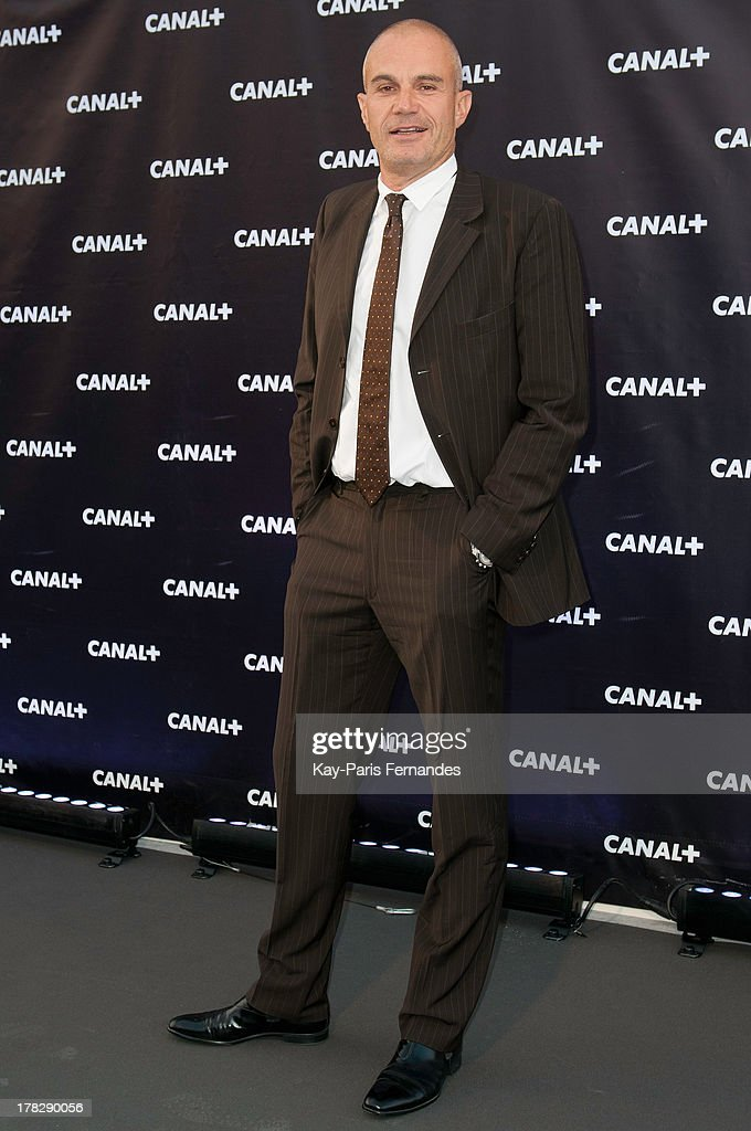 Television presenter and journalist Laurent Weil at the 'Rentree De Canal +' photocall at Porte De Versailles on August 28, 2013 in Paris, France.