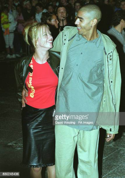 Television presenter and Radio One FM DJ Sara Cox and Leeroy Thornhill from the dance band the Prodigy arrive at the opening party of 'Home' the...