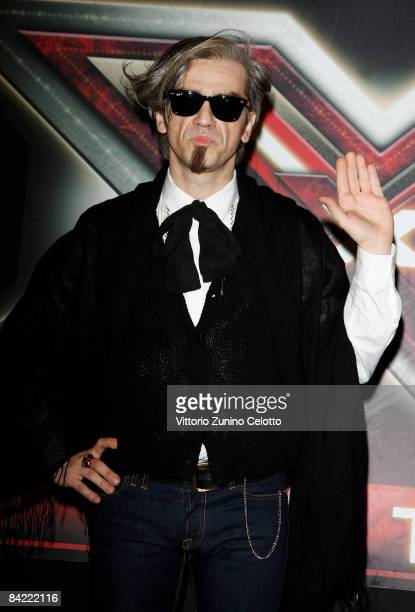Television Presenter and singer Morgan aka Marco Castoldi attends 'X Factor' Italian TV Show press conference held at Westin Palace Hotel on January...