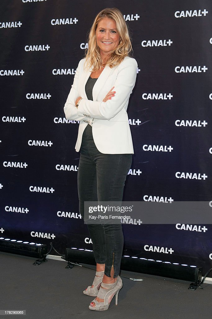 Television presenter Astrid Bard at the 'Rentree De Canal +' photocall at Porte De Versailles on August 28, 2013 in Paris, France.