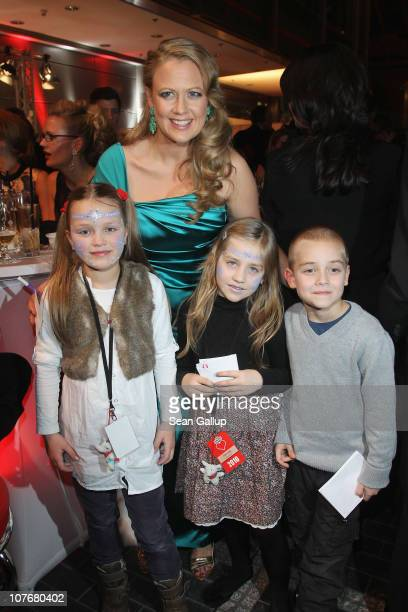 Television presenter Barbara Schoeneberger attends the 'Ein Herz Fuer Kinder' charity gala at Axel Springer Haus on December 18 2010 in Berlin Germany