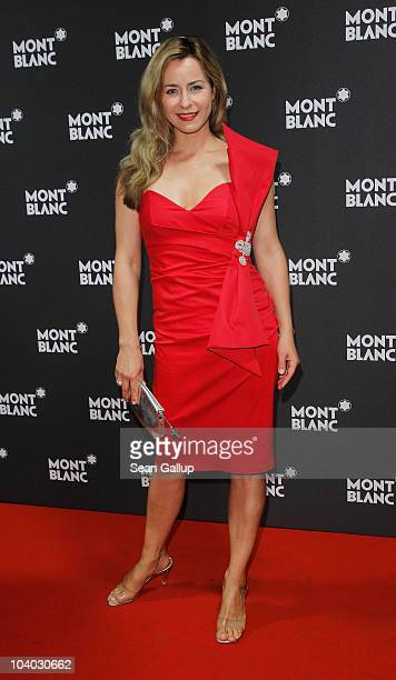 Television presenter Bettina Cramer attends the Montblanc John Lennon Edition Pen Launch Party at Spindler Klatt on September 12 2010 in Berlin...