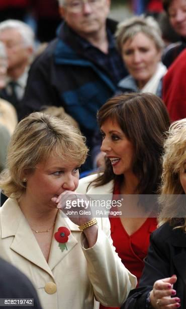 Television presenter Carol Vorderman arrives at York Minster Thursday November 10 with Kathryn Apanowicz the partner of Richard Whiteley for the...