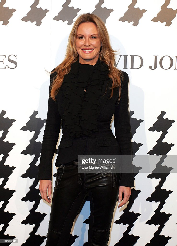 Television Presenter Charlotte Dawson arrives at the David Jones Spring/Summer 2009 Collection Launch themed 'A Great Southern Summer 2009' at the...