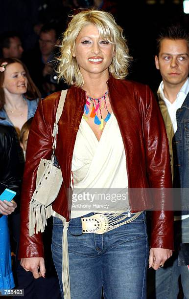 Television presenter Dani Behr arrives at the British premiere of Britney Spears'' debut film 'Crossroads' March 25 2002 in London