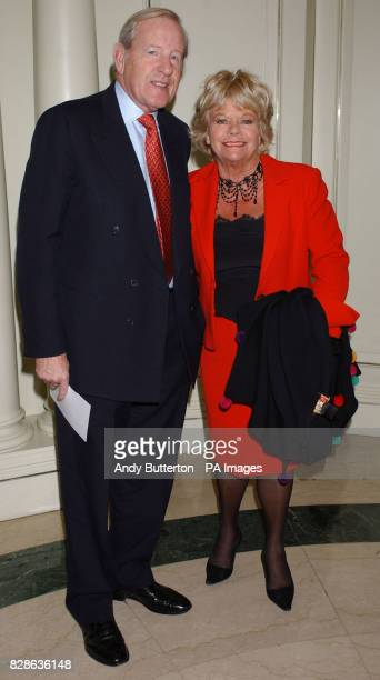 Television presenter Judith Chalmers with her husband Neil DurdenSmith arriving at the 2003 Television Radio Industries Club Awards at the Grovesnor...