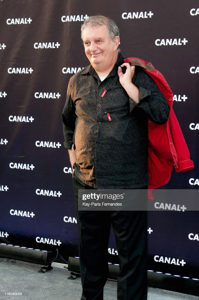 Television presenter Jules Edouard Moustic at the 'Rentree De Canal +' photocall at Porte De Versailles on August 28, 2013 in Paris, France.