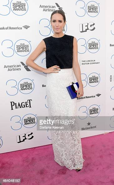 Television presenter Louise Roe attends the 30th Annual Film Independent Spirit Awards at Santa Monica Beach on February 21 2015 in Santa Monica...