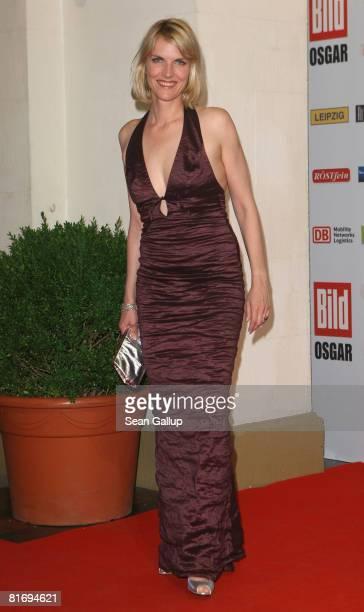 Television presenter Marietta Slomka attends the Bild OSGAR Award at City Hall on June 24 2008 in Leipzig Germany