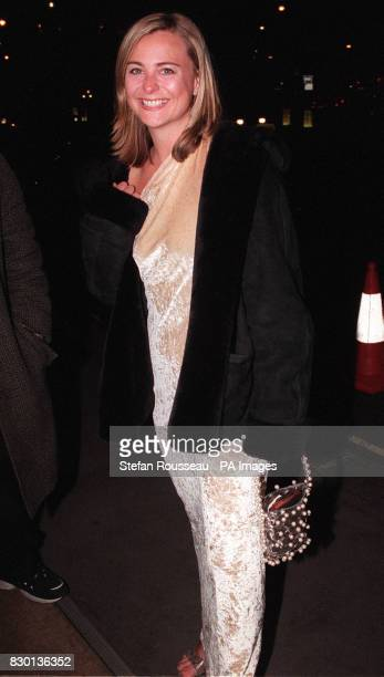 Television presenter Philippa Forrester arriving at a Valentine's Ball at the Hilton Hotel in London to raise money for the Rhys Daniels Trust Rhys...