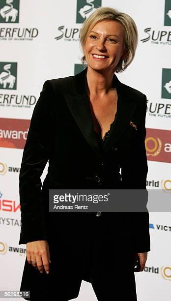 Television presenter Sabine Christiansen arrives at the Women's World Awards on November 29 2005 in Leipzig Germany
