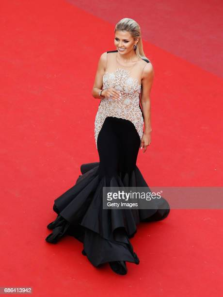 Television presenter Victoria Bonya attends 'The Meyerowitz Stories' premiere during the 70th annual Cannes Film Festival at Palais des Festivals on...
