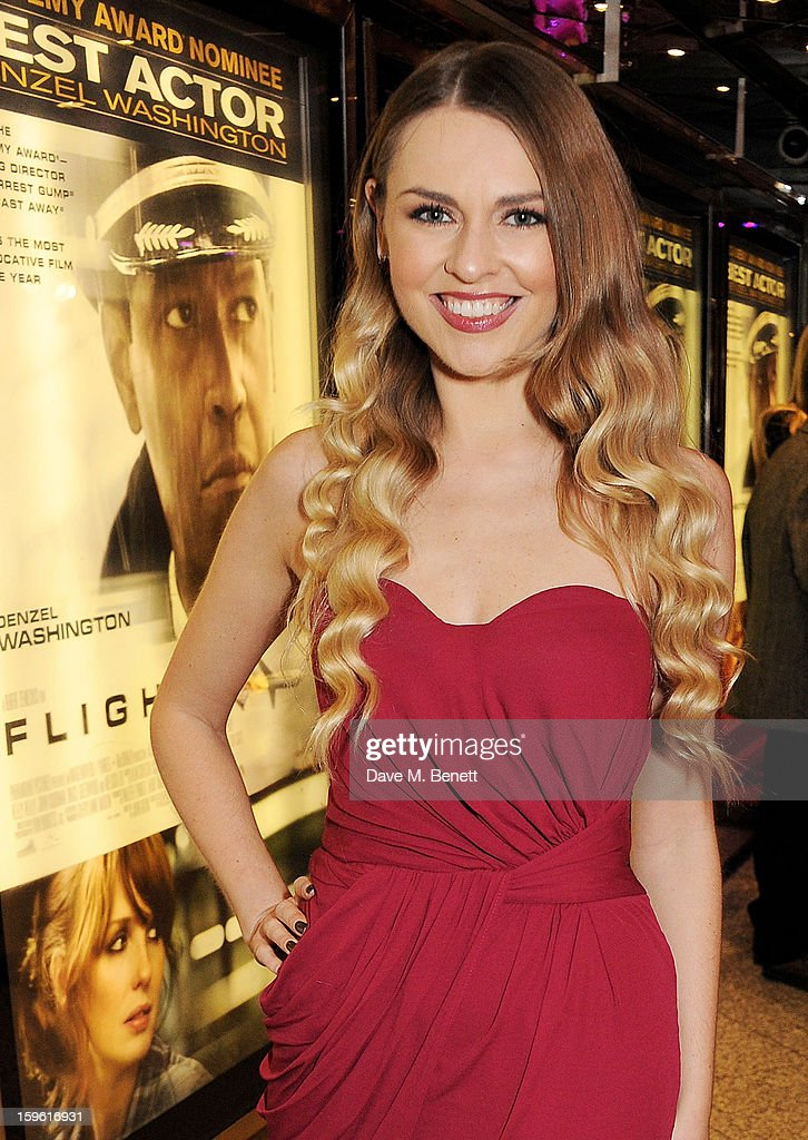 Television presenter Zoe Salmon attends the UK Premiere of 'Flight' at the the Empire Leicester Square on January 17, 2013 in London, England.