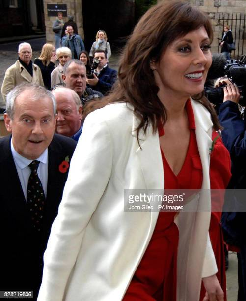 Television presenters Carol Vorderman and Giles Brandreth arrive at York Minster Thursday November 10 for the memorial service to Countdown presenter...
