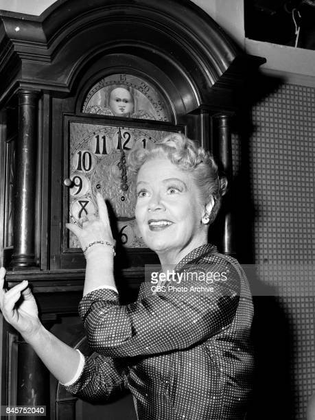 CBS television program December Bride Spring Byington with a grandfather clock Episode The Grandfather Clock originally broadcast January 17 1955...